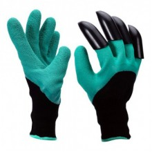Садовые перчатки Garden Genie Gloves с когтями Черно-бирюзовые