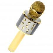 Беспроводной портативный микрофон для караоке Wster WS858 Gold