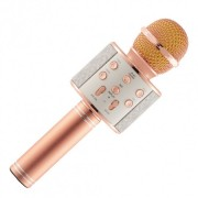 Беспроводной портативный микрофон для караоке Wster WS858 Rose-Gold