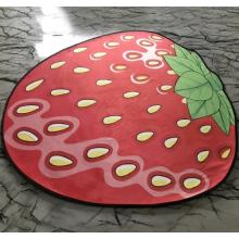 Коврик 3D антискользящий безворсовый коврик для дома Клубника