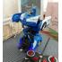 Машина Трансформер Lamborghini Police Robot Car Size 1:18 с пультом Синяя