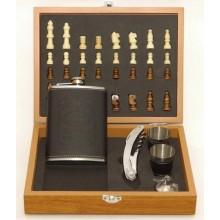Мужской подарочный набор TOPA с флягой и шахматами