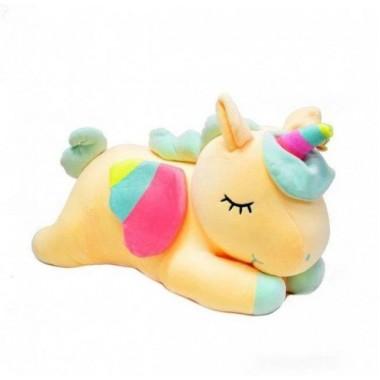 Мягкая игрушка 3 в 1 Единорог с пледом TOPA 56 см Желтый
