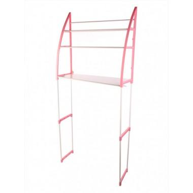 Полка-стеллаж напольная над стиральной машиной Розовая WM-63